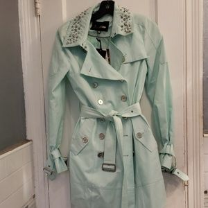 Sam Edelman spiked mint trench coat